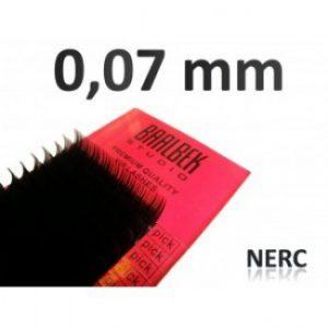 0,07 mm nerc szempillák